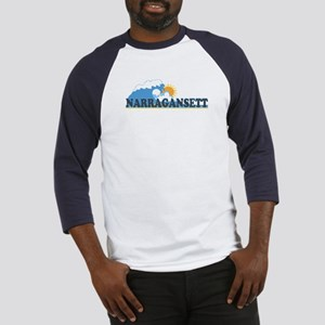 Narragansett RI - Waves Design Baseball Jersey