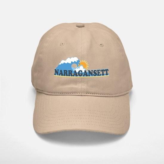 Narragansett RI - Waves Design Baseball Baseball Cap