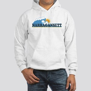Narragansett RI - Waves Design Hooded Sweatshirt