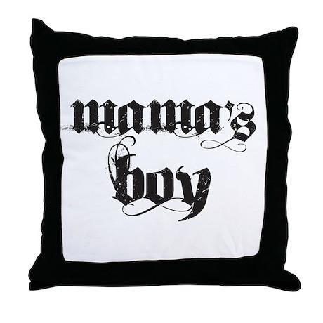 Mama's Boy Throw Pillow