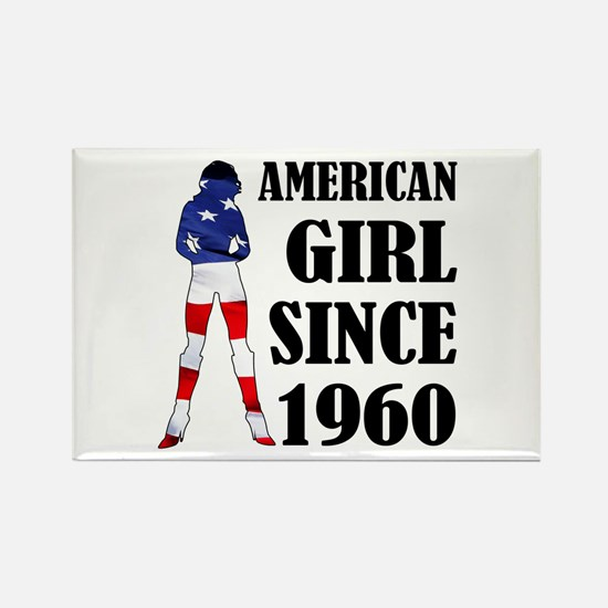 American Girl Since 1960 Rectangle Magnet