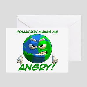 Angry Earth Greeting Card