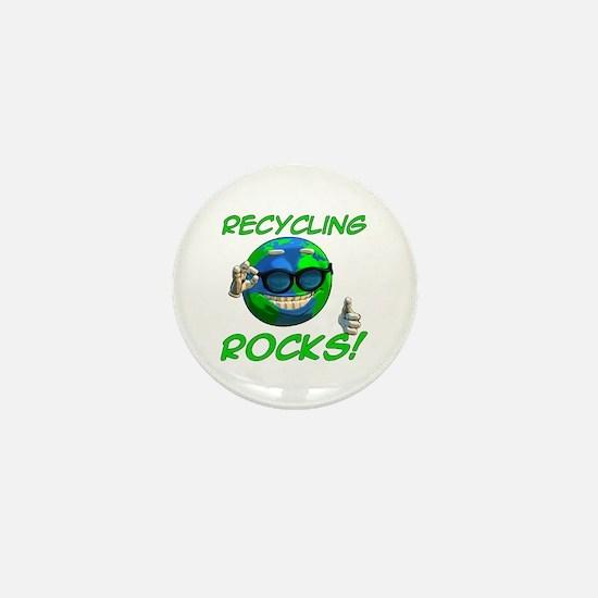 Recycling Rocks! Mini Button