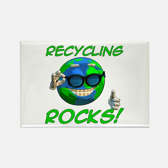 Recycling Rocks! Rectangle Magnet