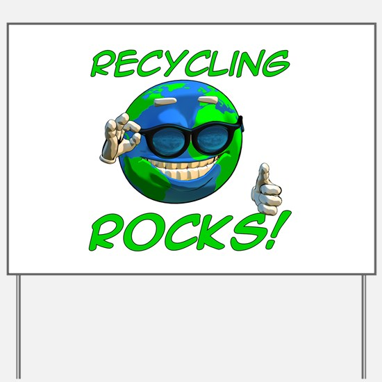 Recycling Rocks! Yard Sign