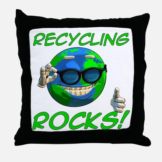 Recycling Rocks! Throw Pillow