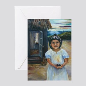 Easter Girl Greeting Card