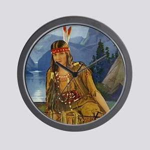 Indian Maiden Wall Clock