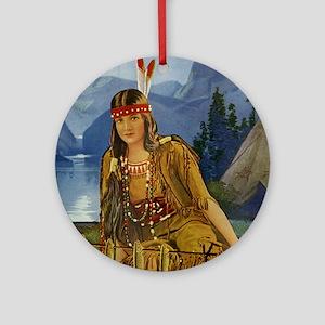 Indian Maiden Ornament (Round)