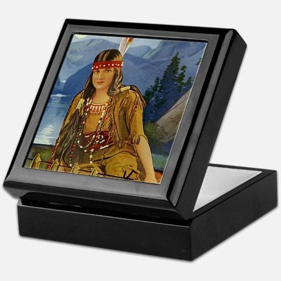 Indian Maiden Keepsake Box