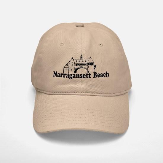 Narragansett RI - Lighthouse Design Baseball Baseball Cap