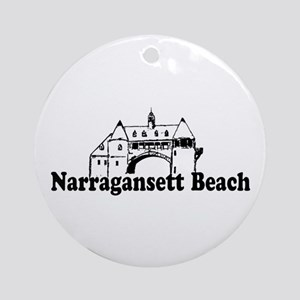 Narragansett RI - Lighthouse Design Ornament (Roun