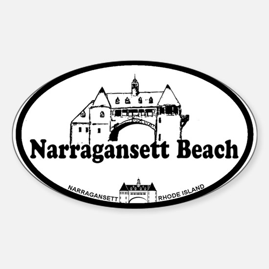 Narragansett RI - Lighthouse Design Sticker (Oval)