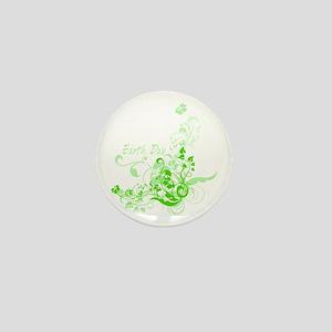Earth Day Swirls Mini Button