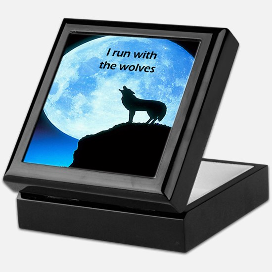 I Run With The Wolves Keepsake Box