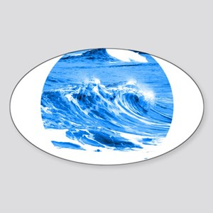 Pacific Waves Sticker (Oval)
