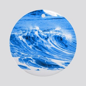 Pacific Waves Ornament (Round)
