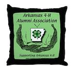 Arkansas 4-H Alumni Throw Pillow