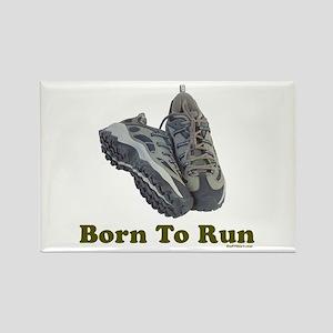 Born To Run Dad Jogging Rectangle Magnet
