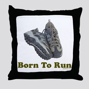 Born To Run Dad Jogging Throw Pillow