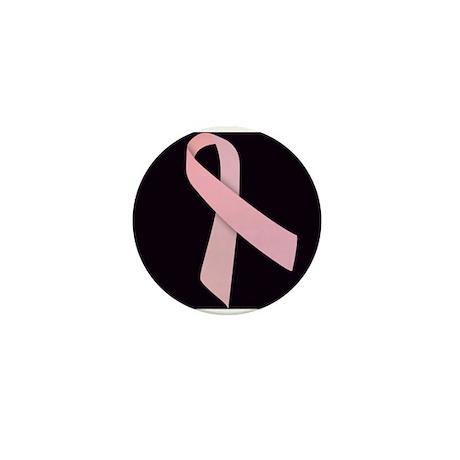 Pink Ribbon Mini Button