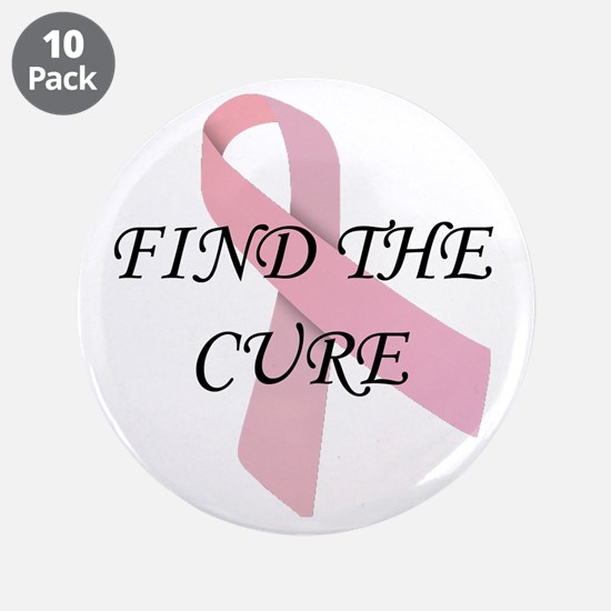 """Find The Cure 3.5"""" Button (10 pack)"""