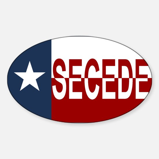 Texas Secession Sticker (Oval)