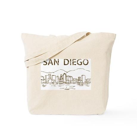 Vintage San Diego Tote Bag