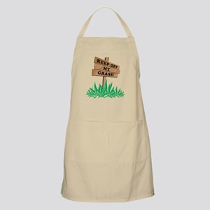 Keep Off My Grass Weed Apron