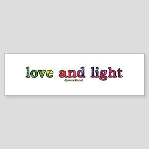 Love and Light Sticker (Bumper)