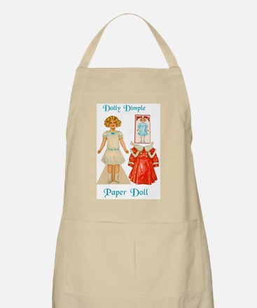 DOLLY DIMPLE Paper Doll Apron