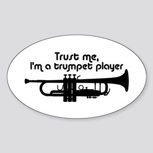 Trumpet Player Sticker (Oval)