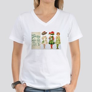 MERRY MABEL Paper Doll Women's V-Neck T-Shirt