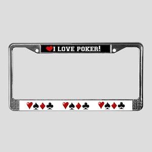 I Love Poker License Plate Frame