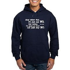 Just Say No Hoodie (dark)