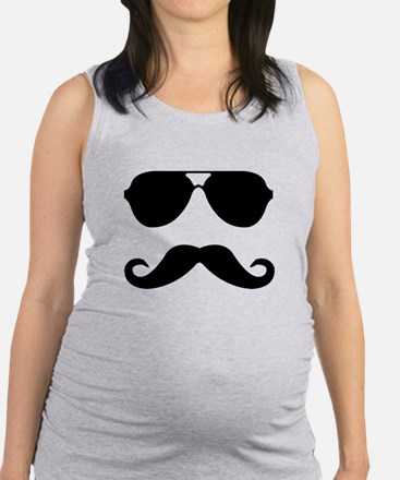 glasses and mustache Tank Top