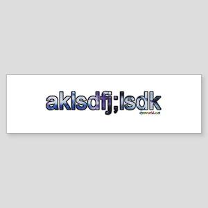 Blue Tie Dye akls Sticker (Bumper)