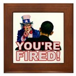 You're Fired! Framed Tile