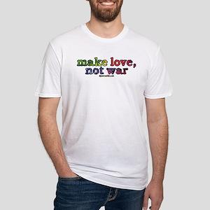 Make Love, Not War Fitted T-Shirt