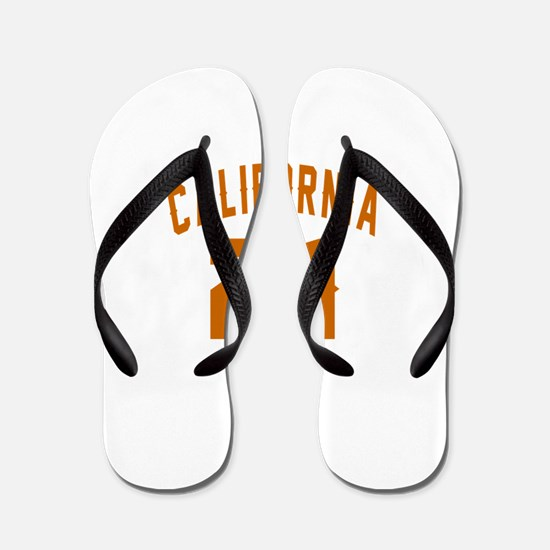 California 21 Birthday Designs Flip Flops
