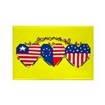 Flag of Hearts Rectangle Magnet