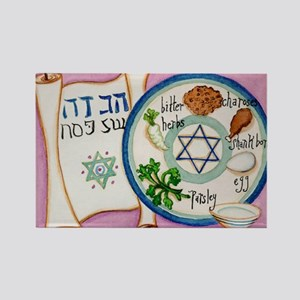 Passover Plate Rectangle Magnet