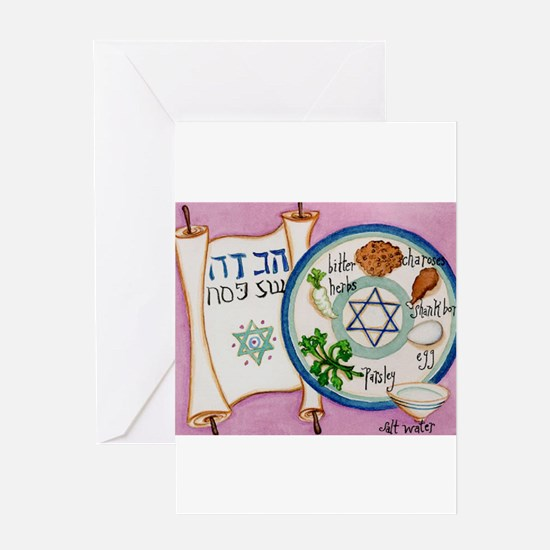 Passover Plate Greeting Card