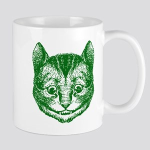 Cheshire Cat Green Mug