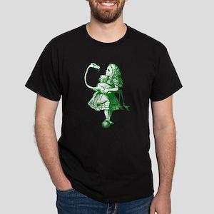 Alice and Flamingo Green Dark T-Shirt