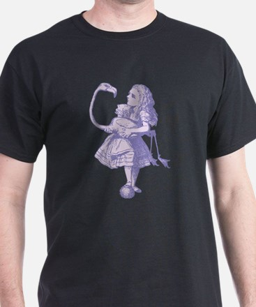 Alice and Flamingo Lavender T-Shirt