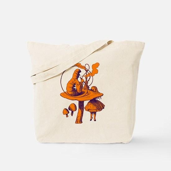 Alice and Caterpillar Purple Tote Bag