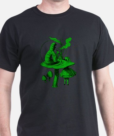 Alice and Caterpillar Green T-Shirt
