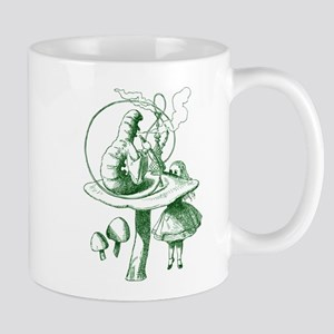 Alice and Caterpillar Green Mug