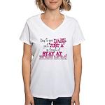 Not Just a SAHM Women's V-Neck T-Shirt